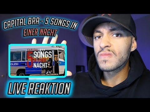 CAPITAL BRA - 5 SONGS IN EINER NACHT (PROD. THE CRATEZ) - Live Reaktion