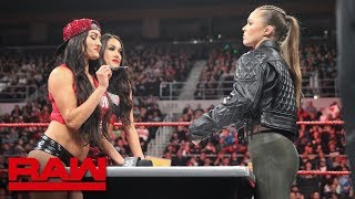 Ronda Rousey & Nikki Bella come face-to-face for Women