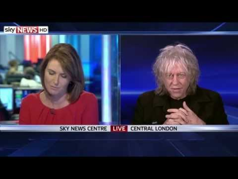 Bob Geldof Talks To Sky News About Band Aid 30 Criticism