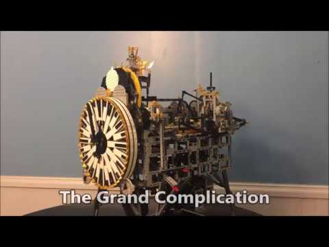 Fully Functional Lego Clock With 7 Complications