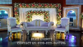 Wedding Decor: Walima Decore By Bliss Event's   Pakistani Wedding.