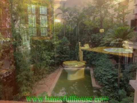 Biệt thự bể bơi ngoài trời cho thuê quận Ba Đình, HN. Biệt thự tiện nghi, sang trọng