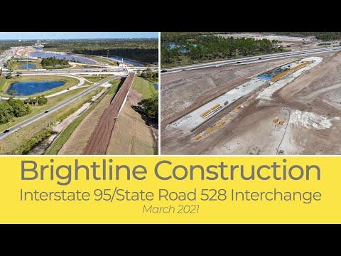 Brightline I-95/State Road 528 Interchange Construction - March 2021