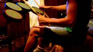 guitar hero drumming with Shana