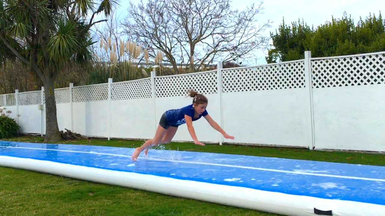 extreme-gymnastics-on-a-slip-n-slide
