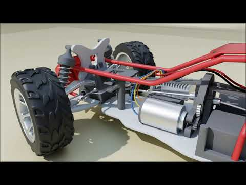 Remote controlled car + rolling ball simulation