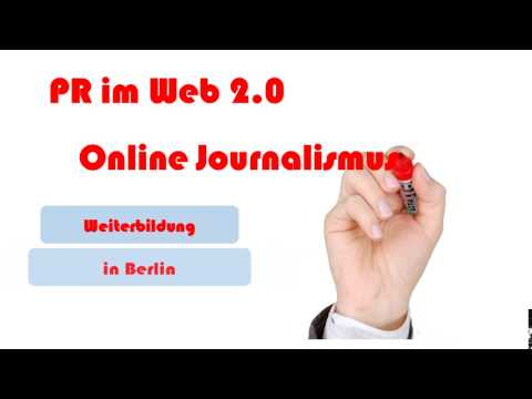 PR im Web 2.0 Online Journalismus, Content und Community Management