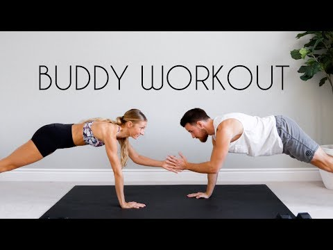 15 min PARTNER WORKOUT (Full Body Tone At Home)