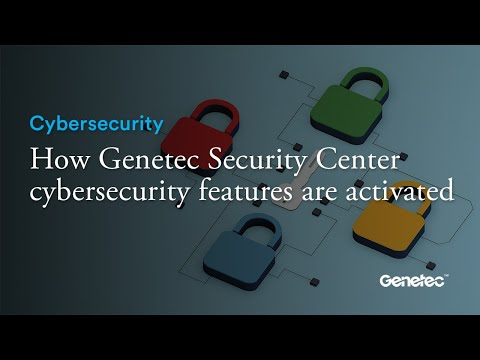 Cybersecurity - Genetec Security Center software demo