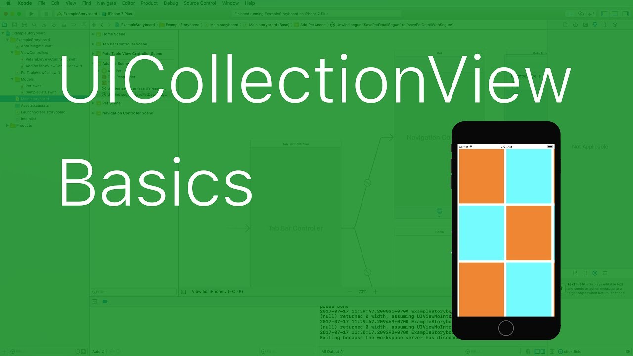 09-UICollectionView basics with Xcode 9 and Swift 4