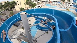 Breaking the Rules on the Water Slide at Anastasia Waterpark
