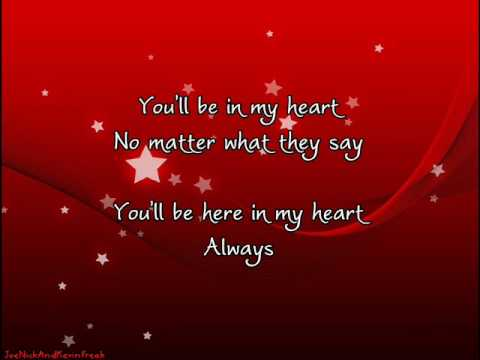 Songtext von Phil Collins - You'll Be in My Heart Lyrics