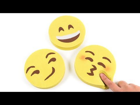 DIY How to Make Kinetic Sand Emoticon Cake Learn Emotion for Kid Children