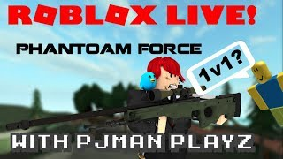 Roblox Live Stream Gaming ! [New GUN!] Phantom Forces! #9 FREE TO ASK !?!?!