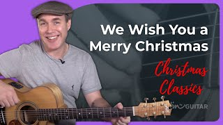 We Wish You A Merry Christmas V2 - Intermediate Chord Melody for Guitar - Guitar Lesson [ST-113]