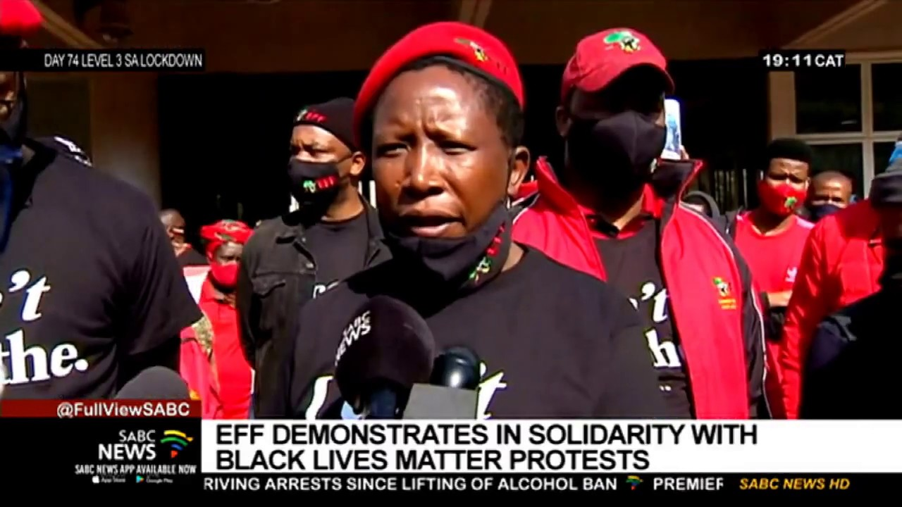 EFF holds demonstrations in solidarity with Black Lives Matter protests