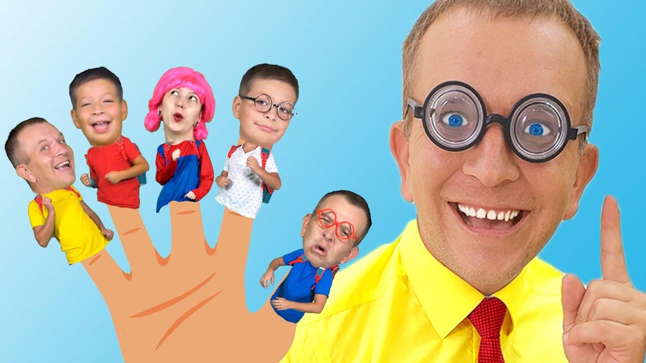 Five Little Schoolchildren + more Cartoons & Kids Songs with Max