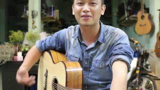 test guitar gỗ koa + sika giá 3tr tại nhẫn guitar