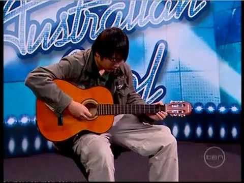 Australian idol - worst Guitar solo,, EVER