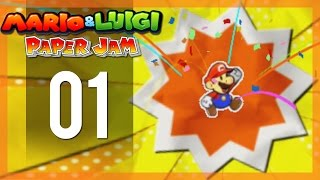 Mario And Luigi Paper Jam Bros - Gameplay Walkthrough Part 1 - When Worlds Collide!