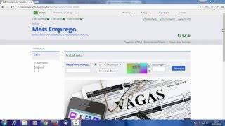 Como concorrer as vagas de emprego no site do sine(http://maisemprego.mte.gov.br)