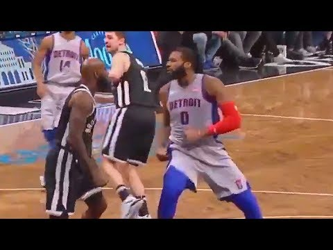 Andre Drummond & Quincy Acy Fight! Ref Gets Punched (Both Get Ejected)
