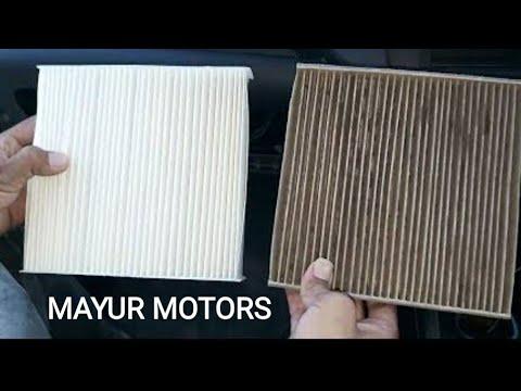 How to clean car AC filter in Hindi Maruti Suzuki Swift