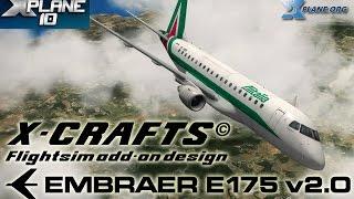 X-crafts Embraer E175 v2.0 for X-plane 10