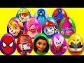 20 Mega Surprise Captain Underpants Eggs with Disney Moana and Paw Patrol Pups Pt 1