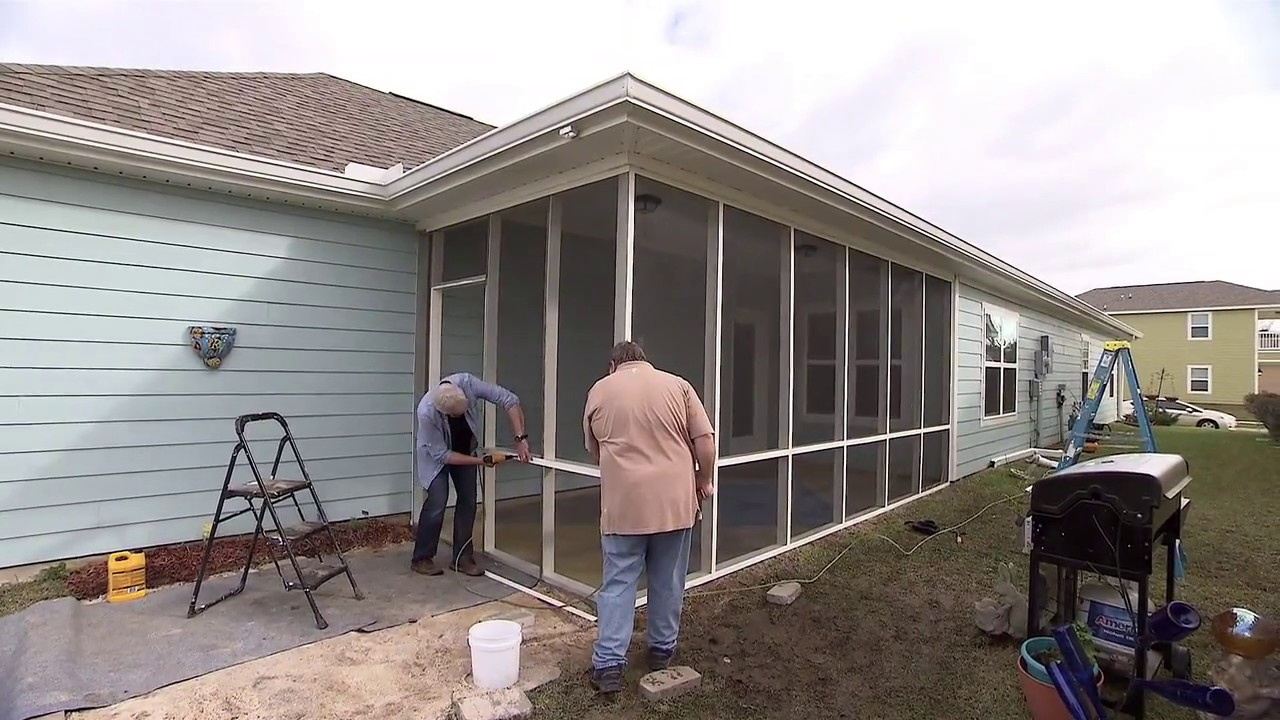 Screening in a Porch - YouTube