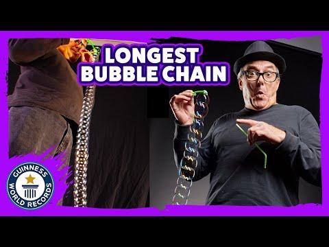 Longest bubble chain - Guinness World Records
