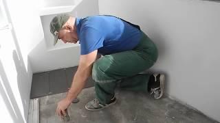 видео Отделка балкона плиткой своими руками |Отделка стен и пола лоджии плиткой