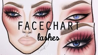 Facechart Lash Tutorial | cassieeMUA