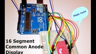 Arduino| Message on a single 16 segment display