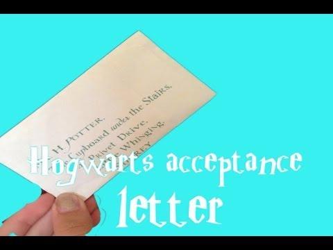Harry Potter Crafts Hogwarts Acceptance Letter