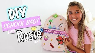 DIY - School Bag (decorate your back to school backpack with me!) AD | Rosie McClelland
