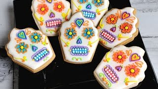 DAY OF THE DEAD SKULL COOKIES, HANIELA&#39S