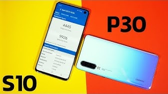 Huawei P30 vs. Samsung Galaxy S10 - Display & Performance Test (Deutsch)