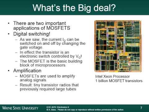 Module 6A - Field Effect Transistors (MOSFET)