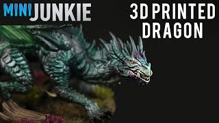 Painting a 3D Printed Green Dragon | Chameleon Colorshift Paints