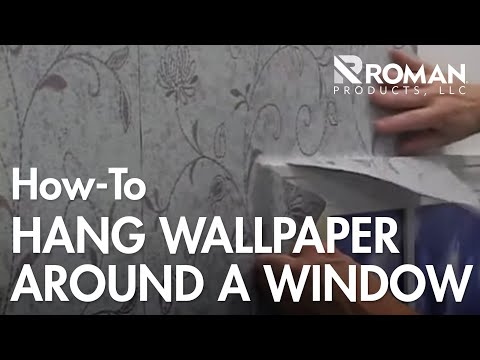 how to wallpaper hang around a window youtube. Black Bedroom Furniture Sets. Home Design Ideas