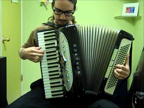 Song of Storms on accordion for ten minutes