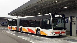 南海バスが関西空港の連絡バス Osaka Kansai Airport Mercedes-Benz Citaro G bus