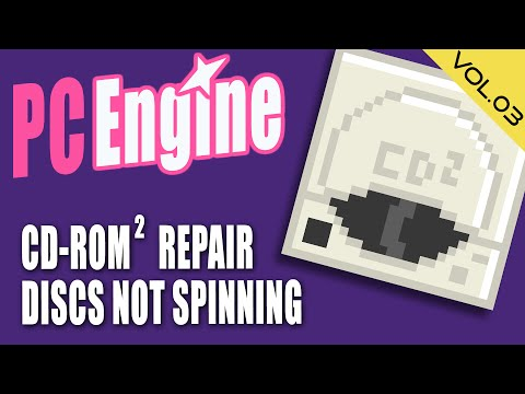 Junk PC Engine CD-ROM² Repair (Discs not spinning)