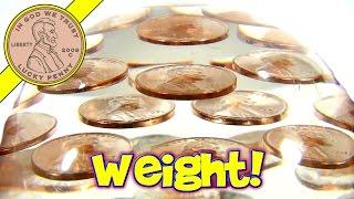 vintage 1971 pennies lucite desktop acrylic paperweight