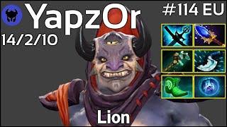 Support YapzOr [Secret] plays Lion!!! Ward spots shown! Dota 2 7.21
