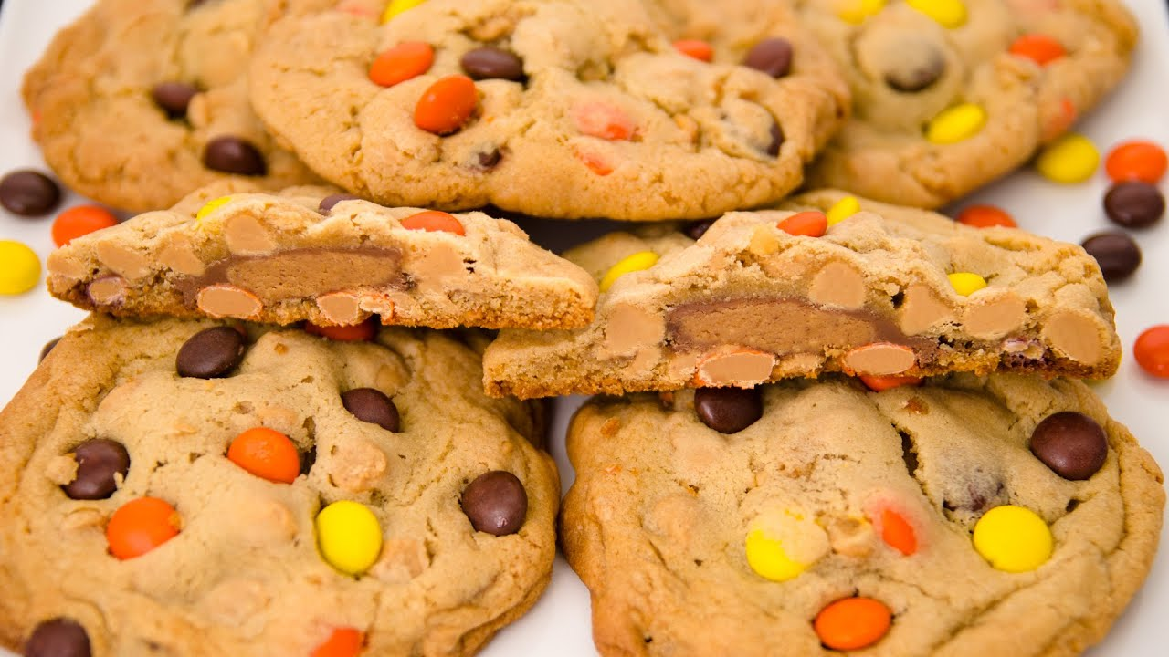 Butter Cup Stuffed Triple Peanut Butter Cookies from Cookies Cupcakes ...