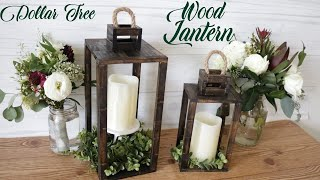 Dollar Tree DIY Real Wood Lantern
