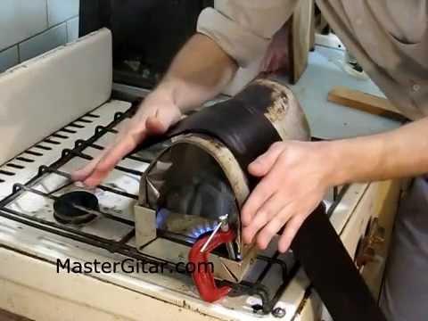 Изгибание обечаек из индийского палисандра - Bending indian rosewood guitar sides