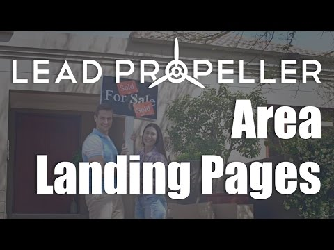 Area Landing Pages LeadPropeller New Feature!